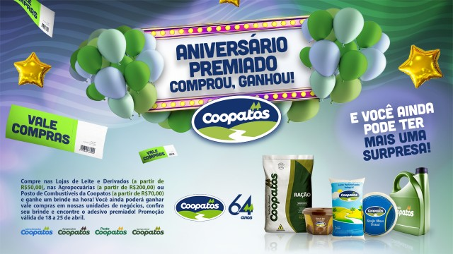 COOPATOS 64 ANOS: UM SHOW DE OFERTAS!