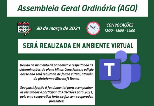 Assembleia Geral Ordinária será virtual